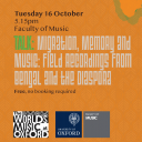 migration memory and music talk 161018
