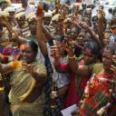 tamil dalit women in an anti liquor protest