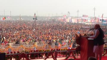 narendra modi addressing vijay shankhnad rally in meerut from modis flickr account creative commons